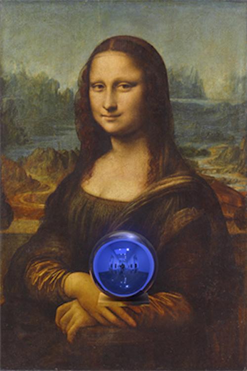 Gazing Ball (Mona Lisa) by Jeff Koons