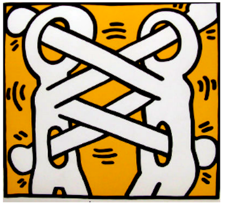 Untitled 1988 HS by Keith Haring