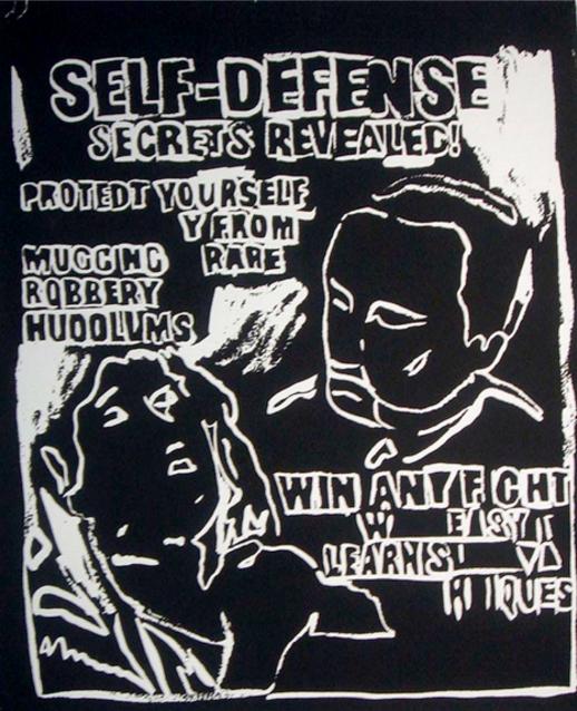 Self Defense (Negative) by Andy Warhol
