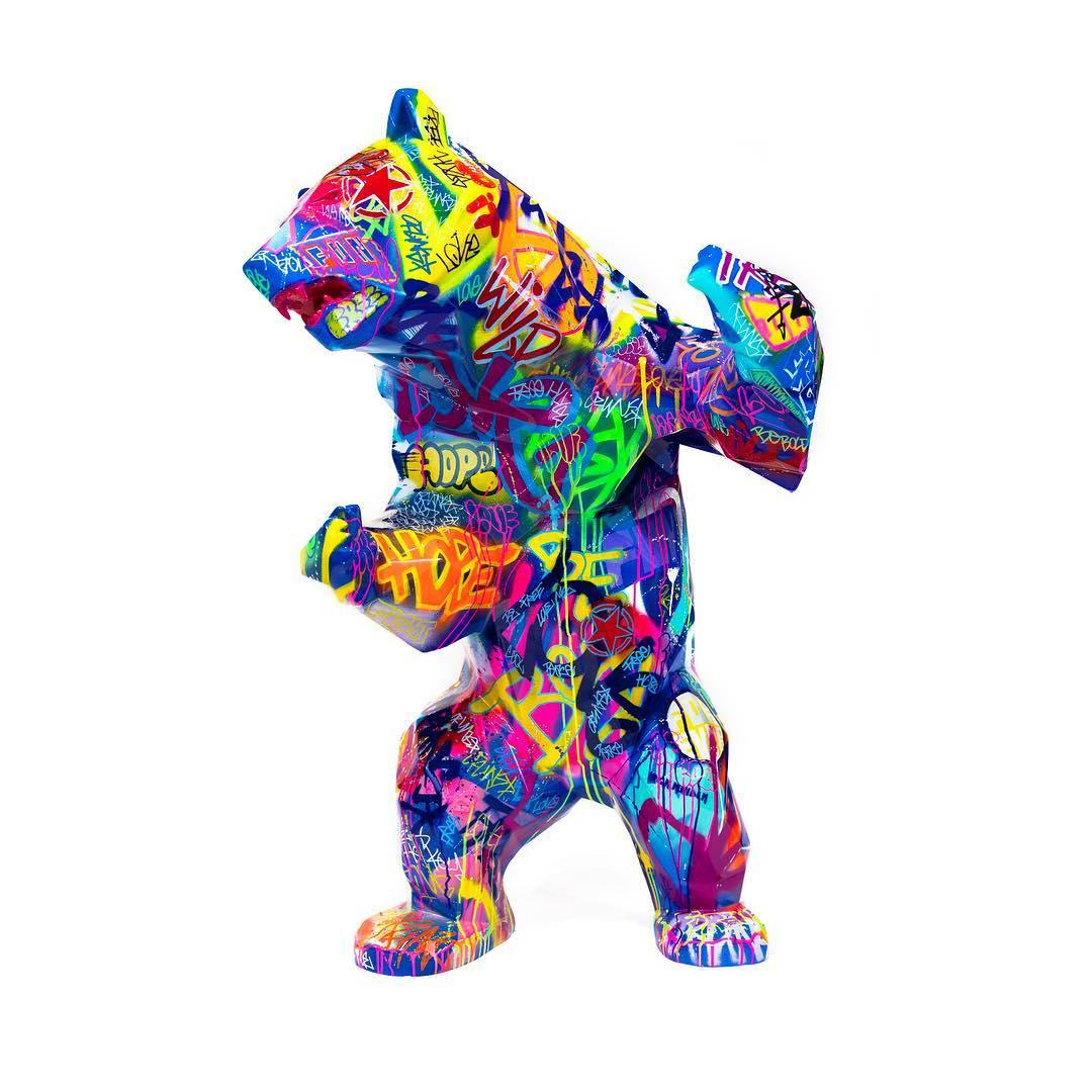 Standing Wild Bear by Richard Orlinski