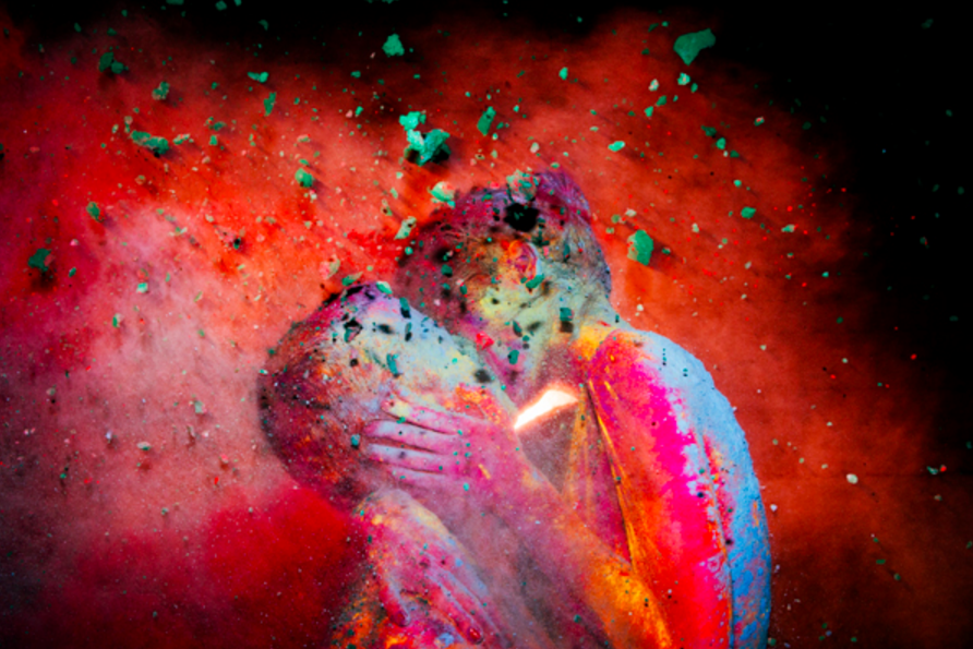 Chromatic Kiss (Red) by Tyler Shields