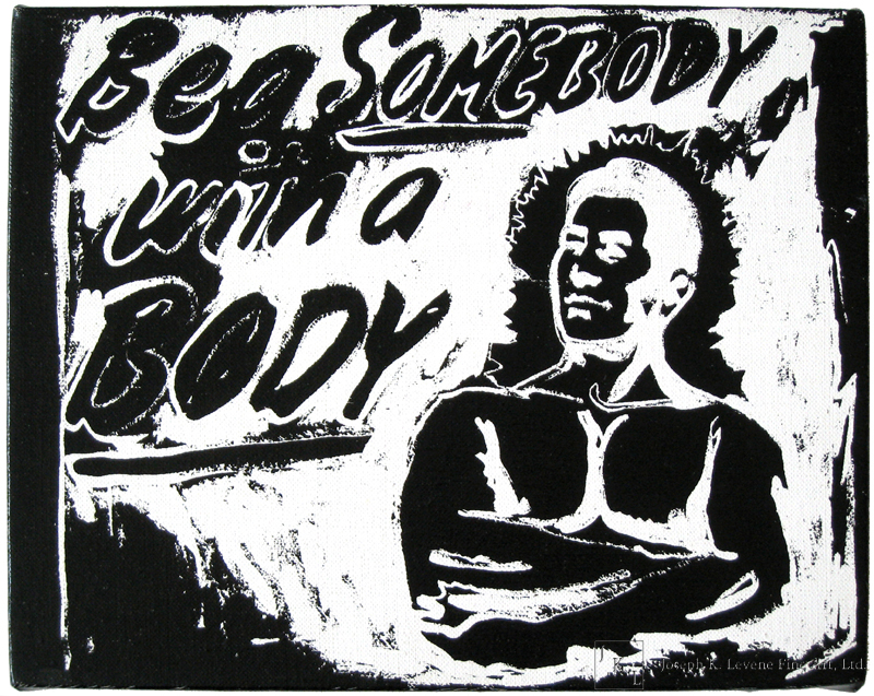 Untitled Be a somebody with a body by Andy Warhol