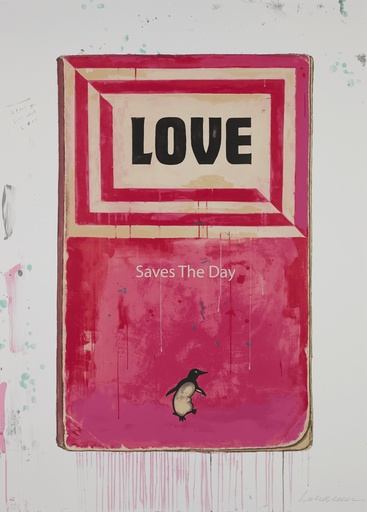 Love Saves the Day by Harland Miller