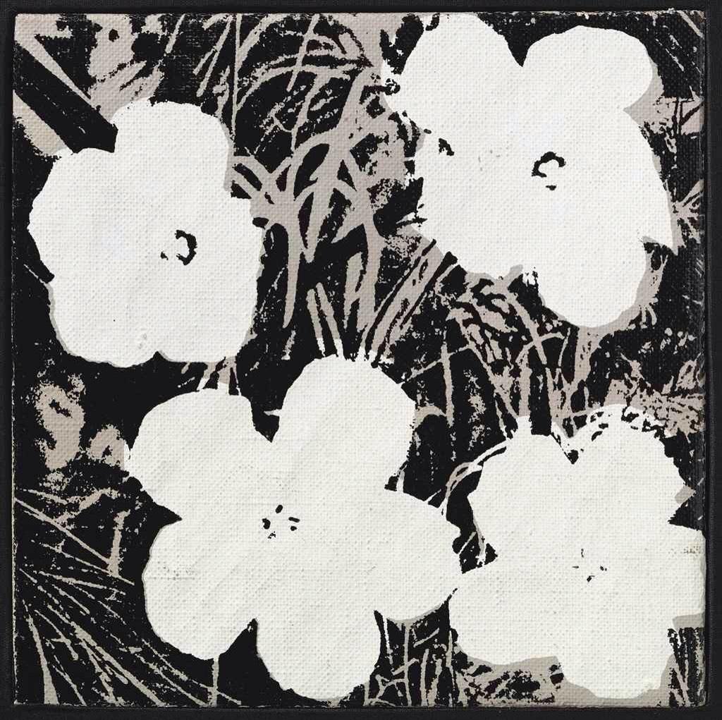 8 inch flower B&W by Andy Warhol