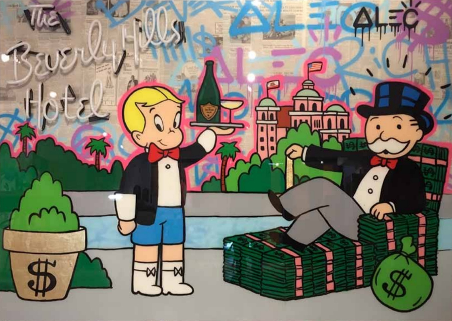 Beverly Hills Hotel Neon Sign by Alec Monopoly