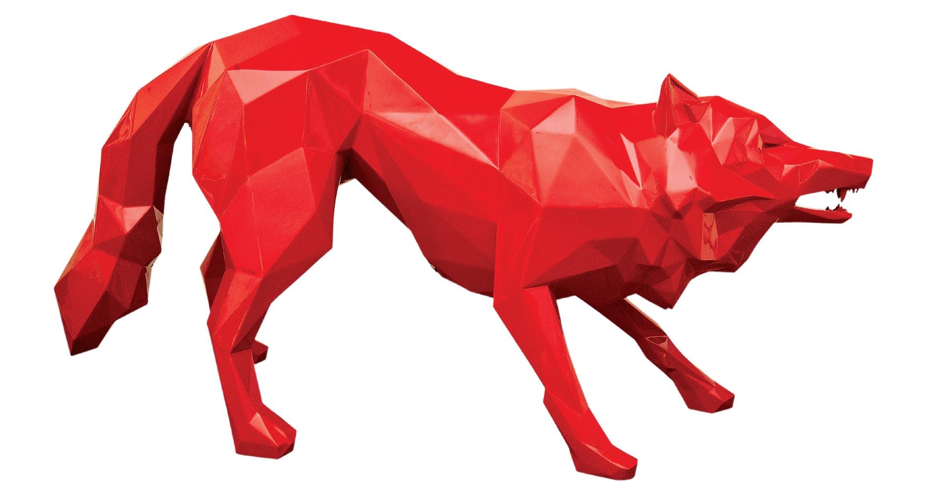 Raging Wolf by Richard Orlinski