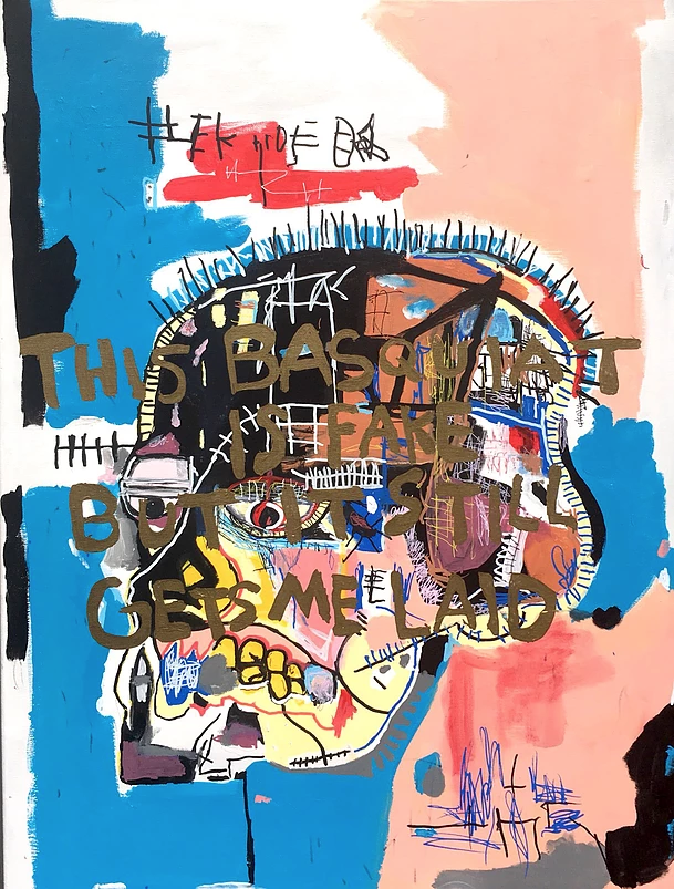 This Basquiat is Fake But It still Gets Me Laid
