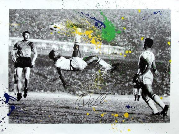 The King Pelé by Mr. Brainwash