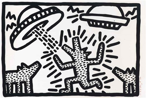 Untitled 1-6 (One Plate) by Keith Haring