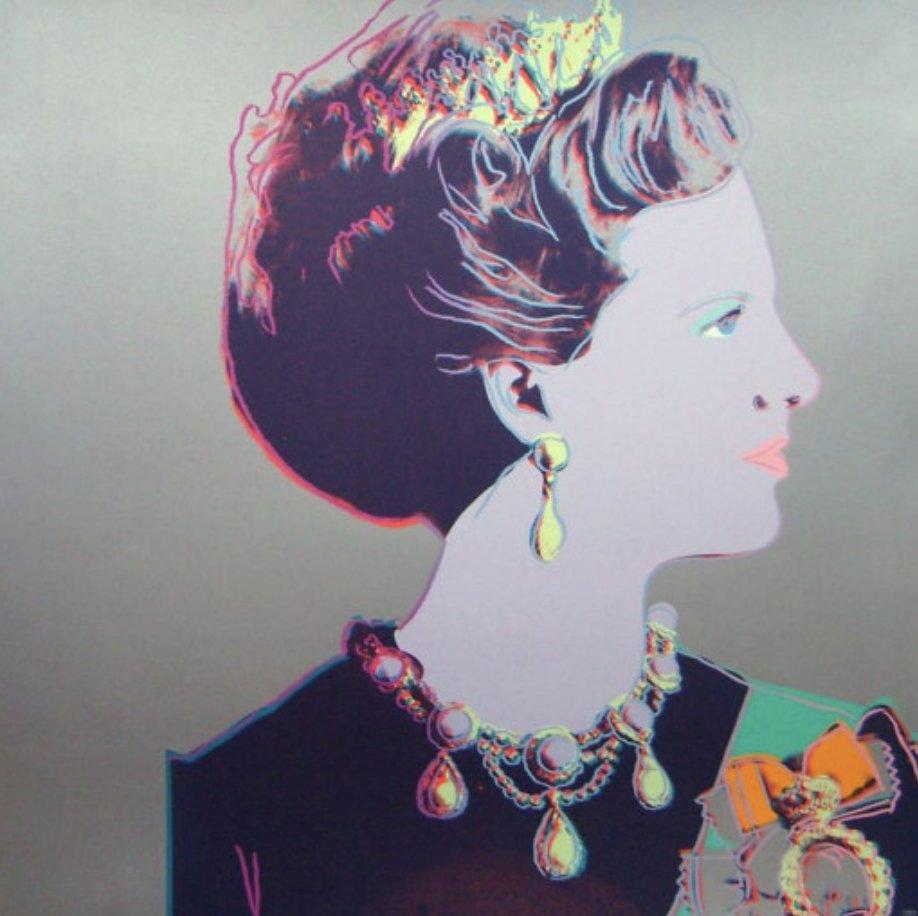 Queen Margrethe II Of Denmark FS II 342 by Andy Warhol