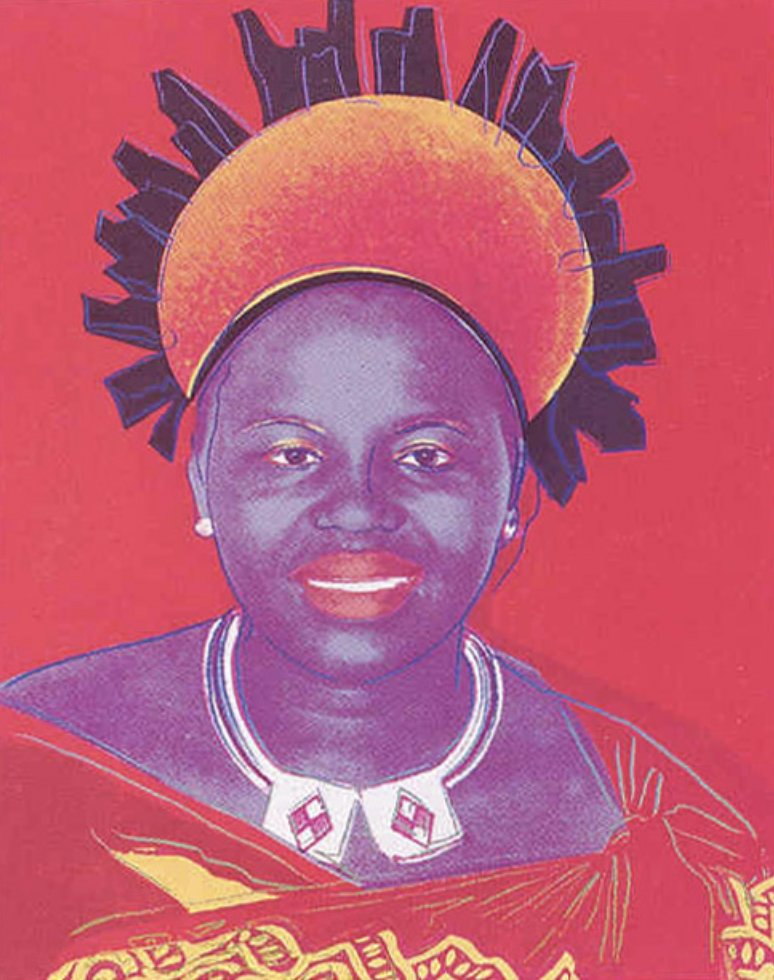 Queen Ntombi Twala of Swaziland FS II 349 by Andy Warhol
