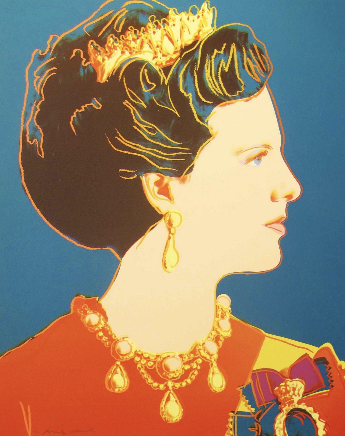 343 Queen Margrethe II by Andy Warhol