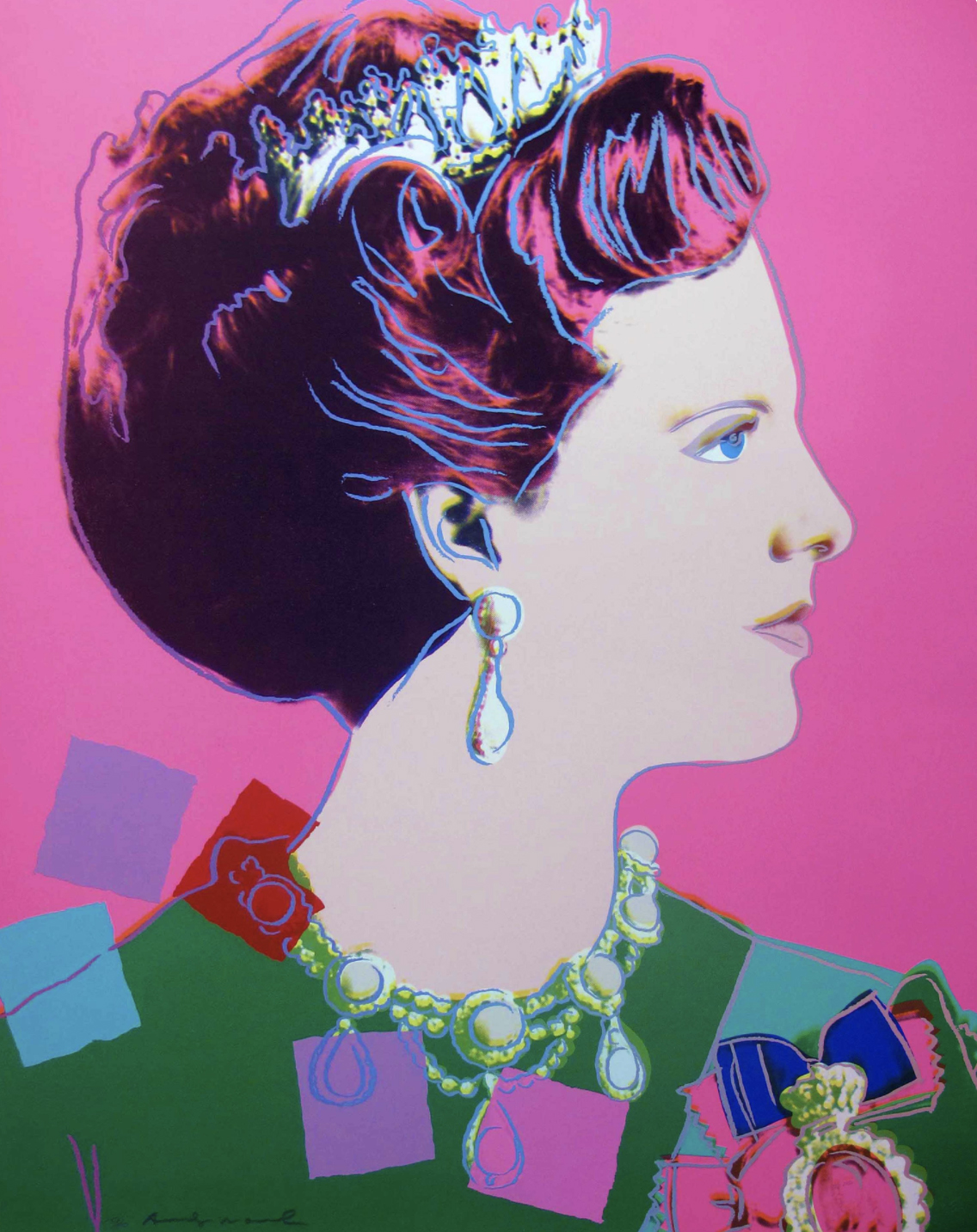 345 Queen Margrethe II by Andy Warhol