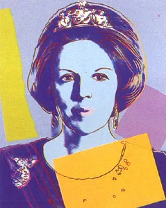Queen Beatrix Of The Netherlands FS II 340 by Andy Warhol
