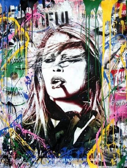 Brigitte Bardot by Mr. Brainwash