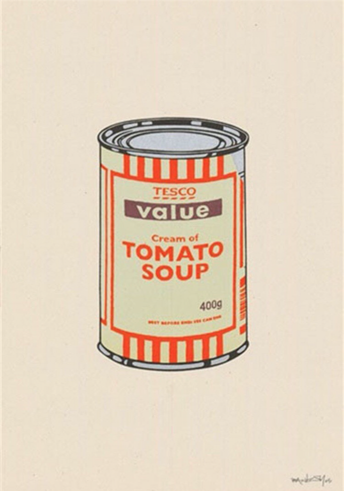 Soup Can Mint, Orange and Brown by Banksy