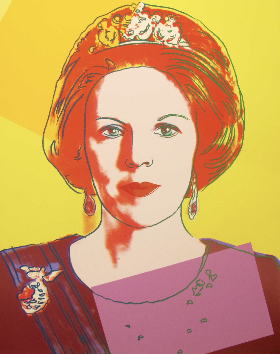 Queen Beatrix Of The Netherlands [II.341] by Andy Warhol