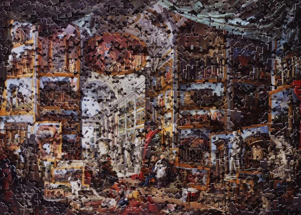 Gallery of Views of Ancient Rome, after Giovanni Paolo Panini (Gordian Puzzle Series) by Vik Muniz