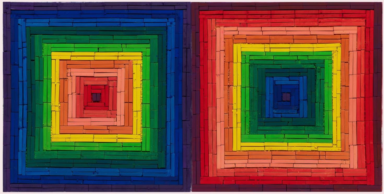 Metachrome (Double Scramble, after Frank Stella) by Vik Muniz