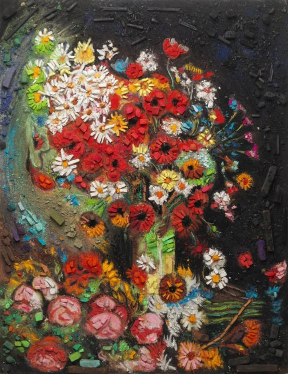 Metachrome (Flowers, after Vincent van Gogh) by Vik Muniz