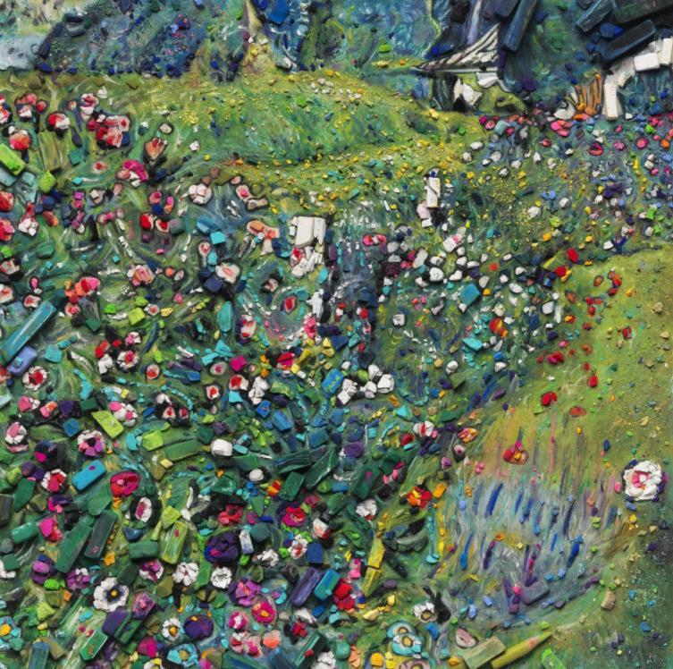 Metachrome (Italian Garden, after Gustav Klimt) by Vik Muniz