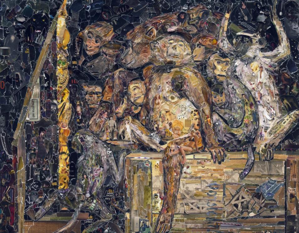Monkeys as Art Critics, after Gabriel Cornelius von Max (Pictures of Magazines 2) by Vik Muniz