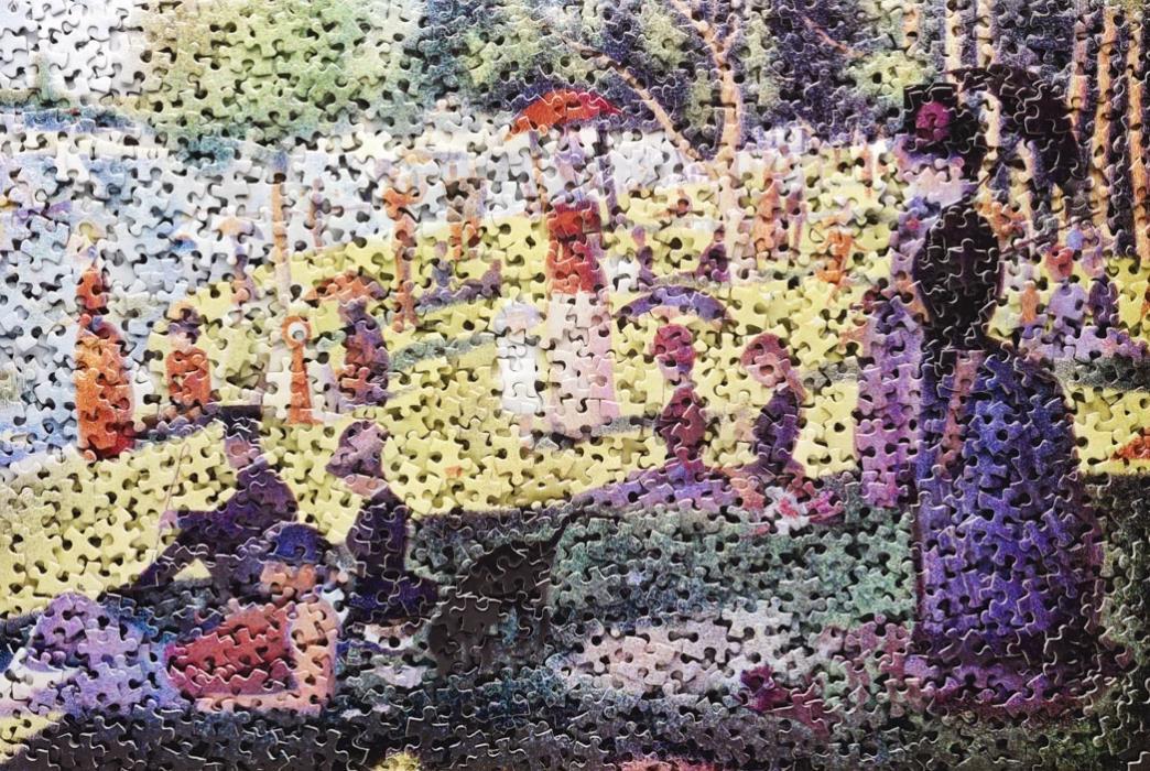 A Sunday on La Grande Jatte, after Georges Seurat vik muniz