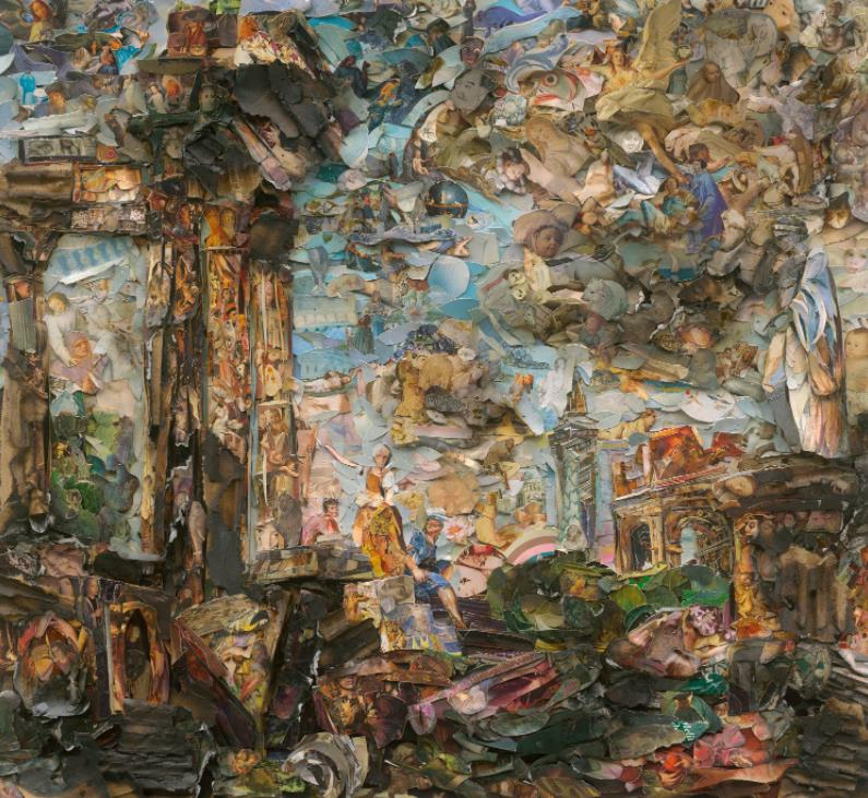Roman Capriccio Imaginary Landscape with Antique Landmark, after Giovanni Paolo Panini (Afterglow) by Vik Muniz