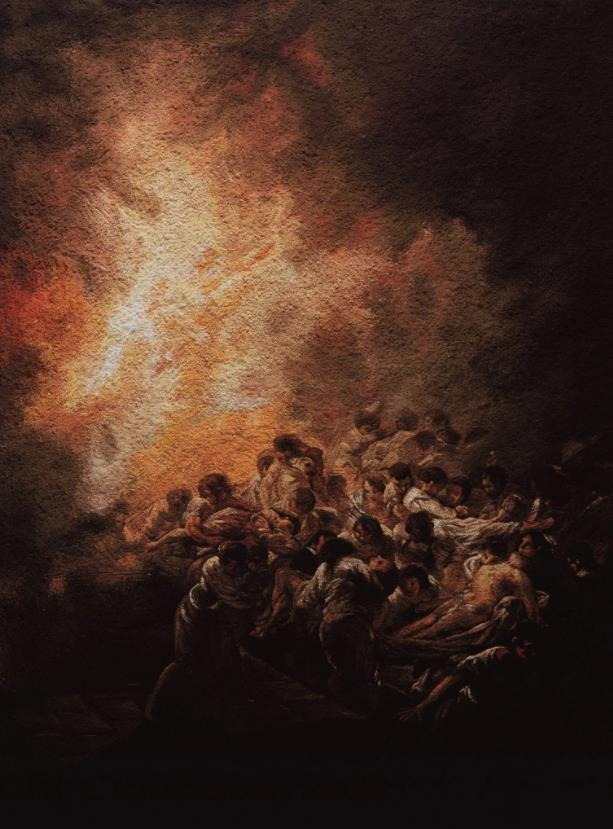 The Night Fire, after Goya (Pictures of Pigment) by Vik Muniz