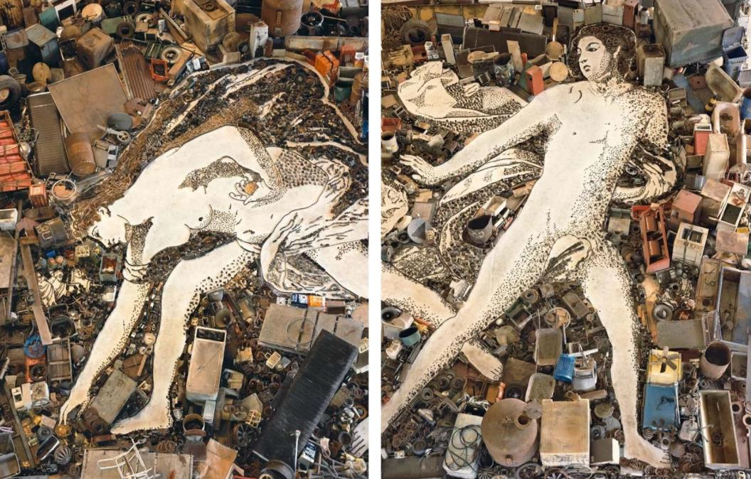 Atalanta and Hippomenes, after Guido Reni by Vik Muniz