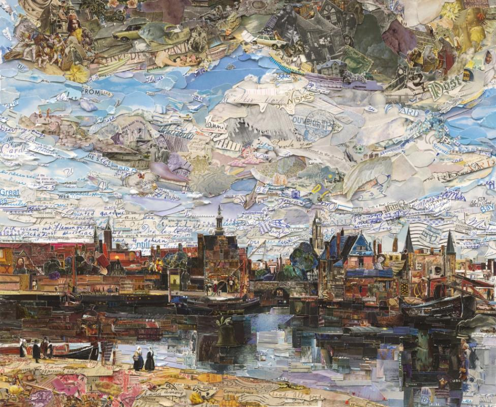 View of Delft (Postcards from Nowhere) by Vik Muniz