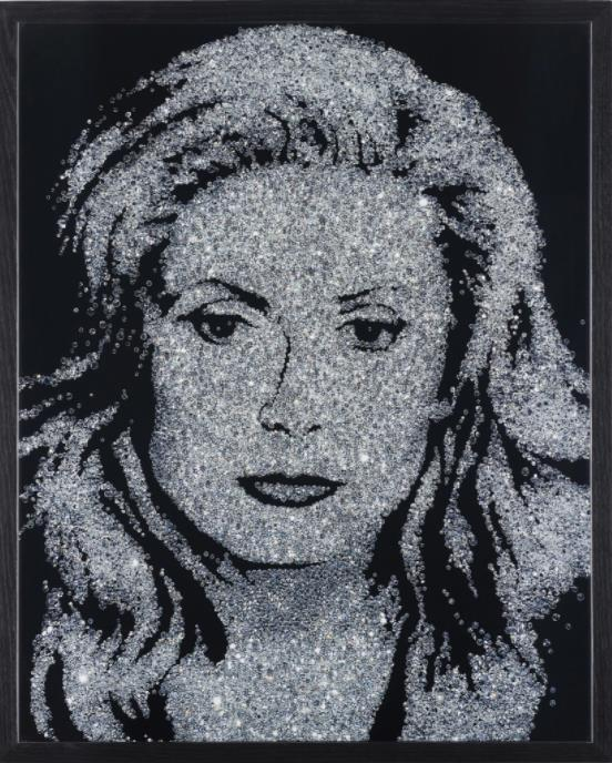 Catherine Deneuve (Pictures of Diamonds) by Vik Muniz