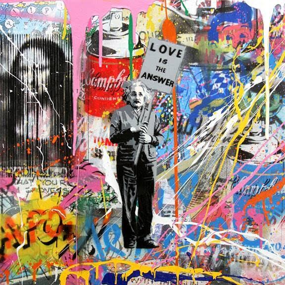 Einstein by Mr. Brainwash