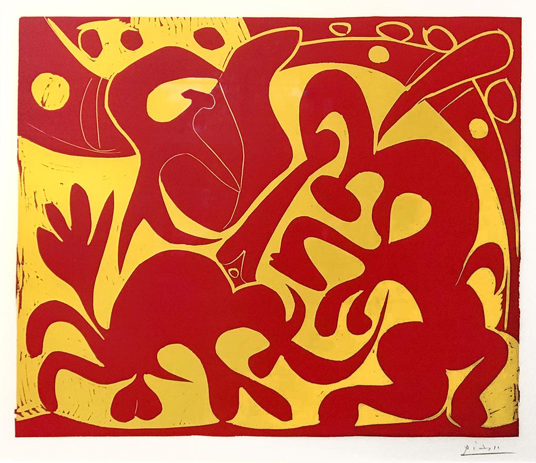 La Pique en Rouge et Jaune (The Bullfight in Red and Yellow)