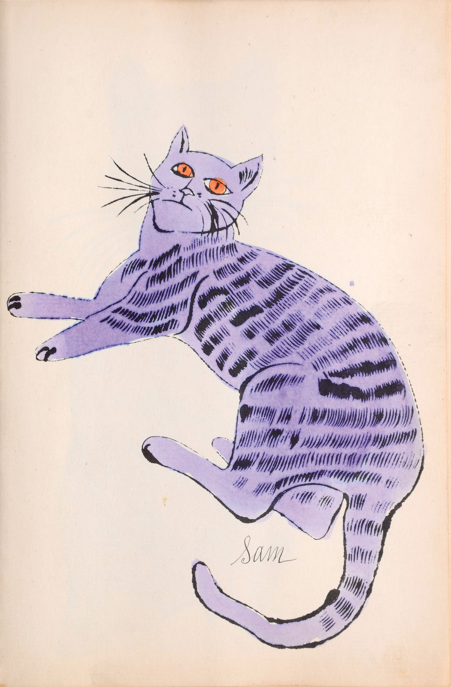 Cats Named Sam IV.52 by Andy Warhol