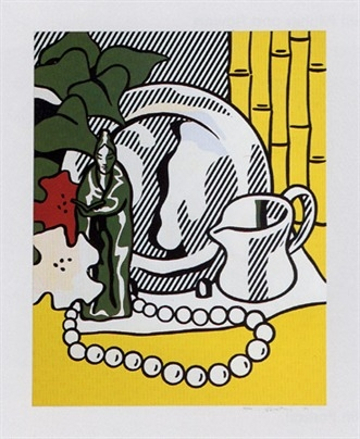 Still Life With Figurine by Roy Lichtenstein