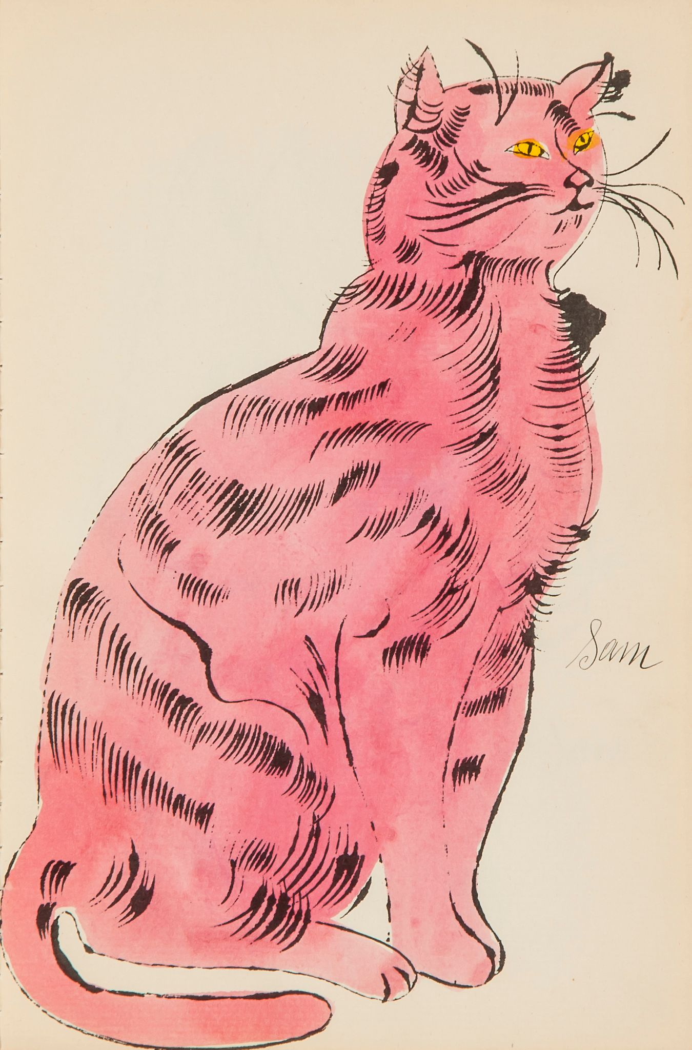 Cats Named Sam IV.56 by Andy Warhol
