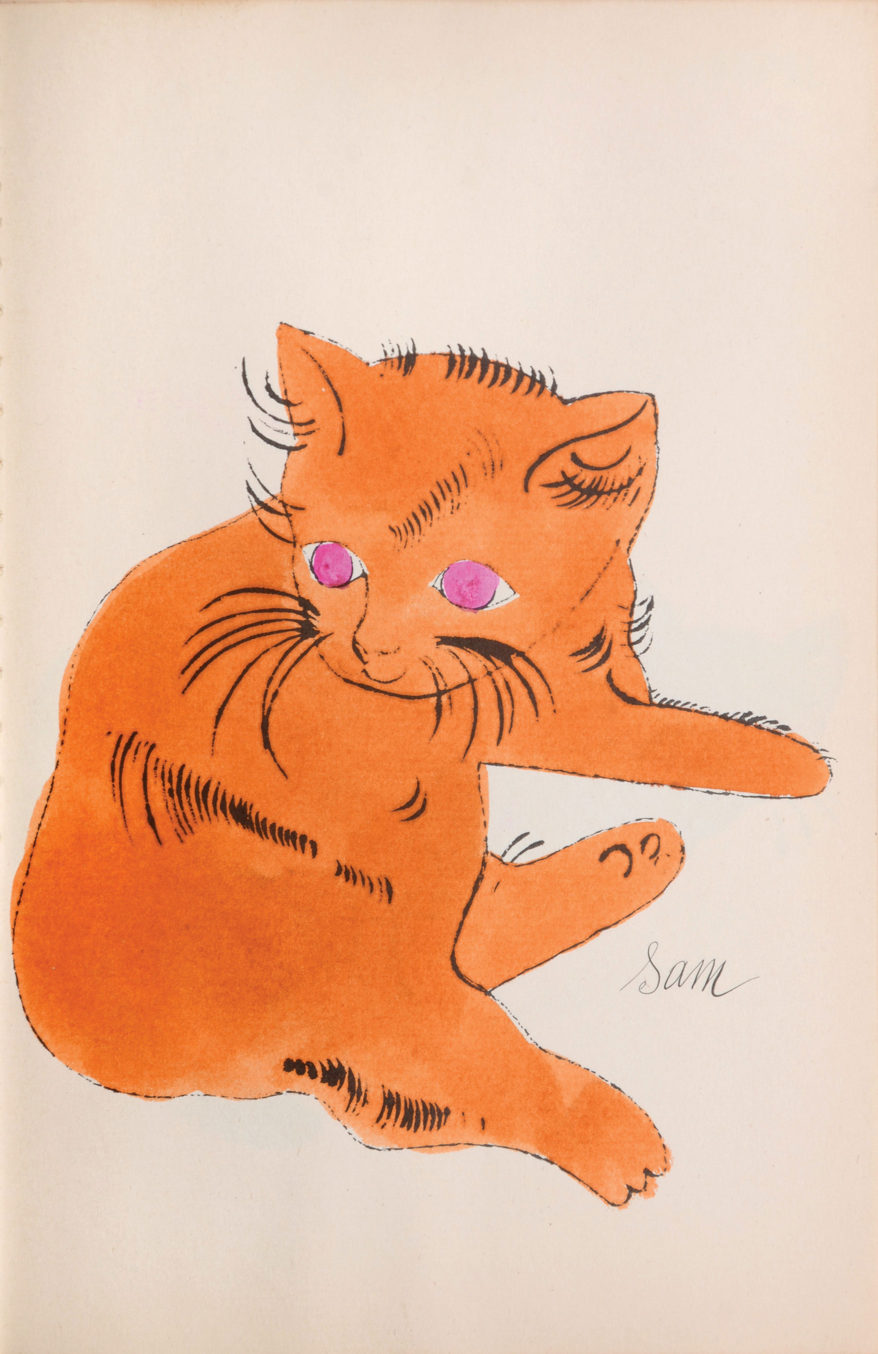 Cats Named Sam IV.66 by Andy Warhol