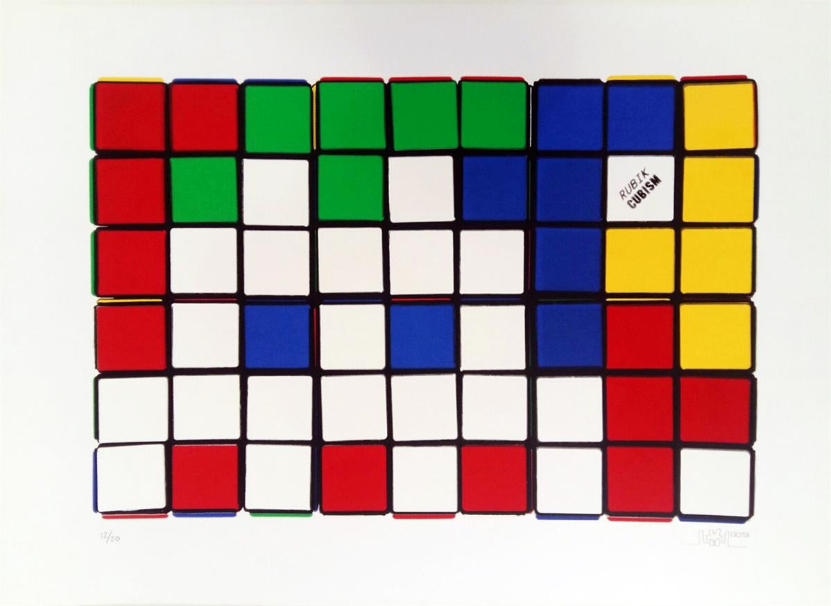 6 Cubes By Invader