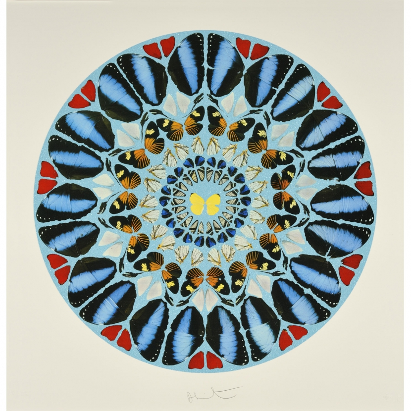 Psalm- Ad te, Domine, levavi (with Diamond Dust) by Damien Hirst