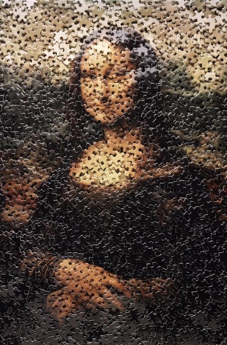 Mona Lisa, from Gordian Puzzles by Vik Muniz