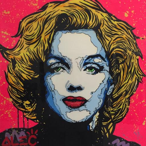 Marilyn Monroe in Rose by Alec Monopoly