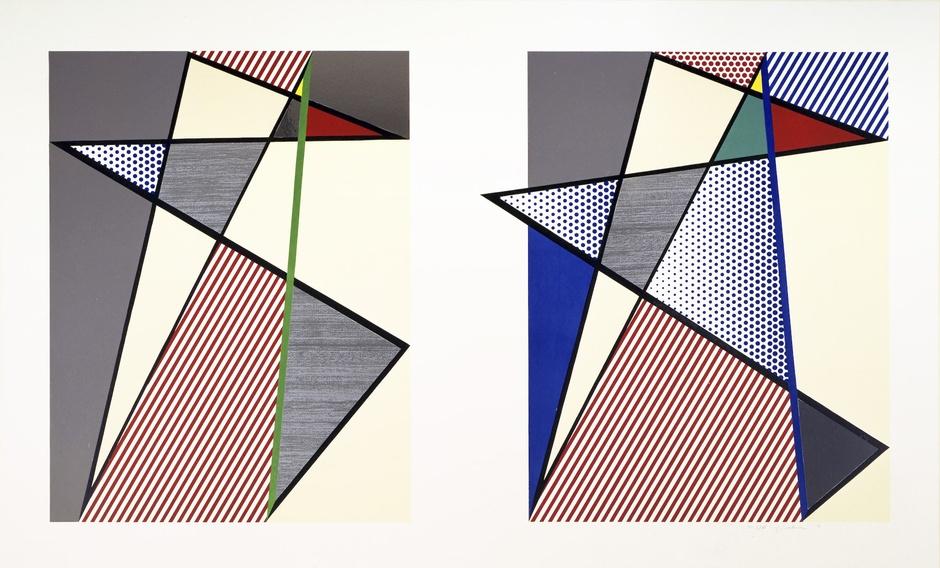 Imperfect Diptych by Roy Lichtenstein
