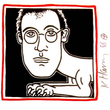 Keith Haring – self portrait