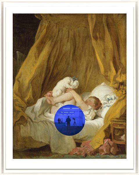 Gazing Ball (Fragonard Girl with Dog) by Jeff Koons