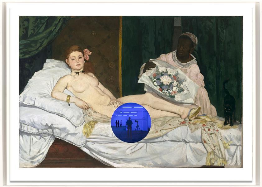 Gazing Ball (Manet Olympia) by Jeff Koons