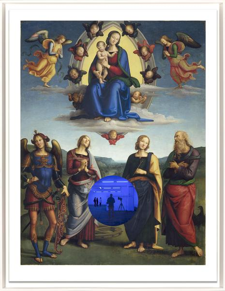 Gazing Ball (Perugino Madonna and Child with Four Saints) by Jeff Koons