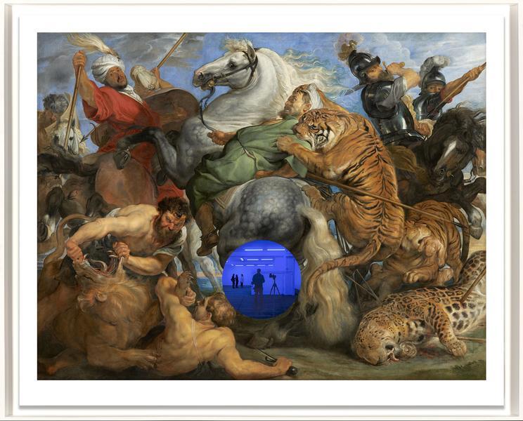 Gazing Ball (Rubens Tiger Hunt) by Jeff Koons
