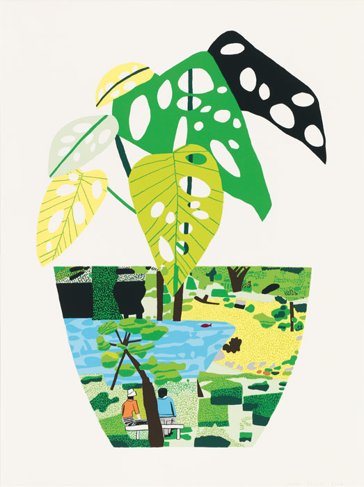 Landscape with Plant by Jonas Wood