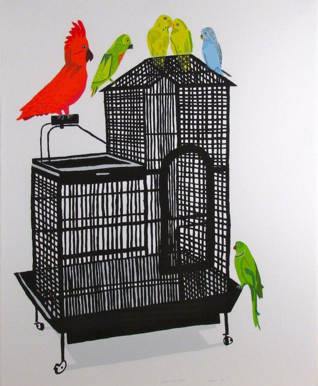 Bird Cage XVIII By Jonas Wood